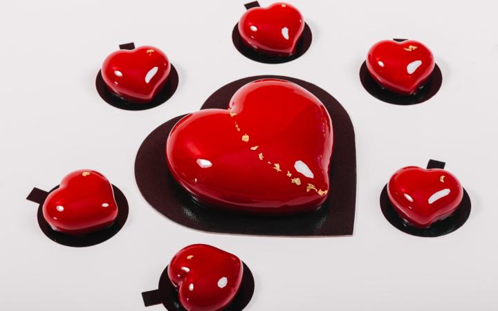 Valentine's festive pastries